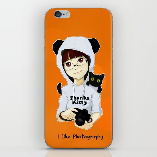 thanks kitty - i like photography iPhone & iPod Skin
