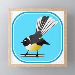 Fantail NZ BIRD Framed Mini Art Print