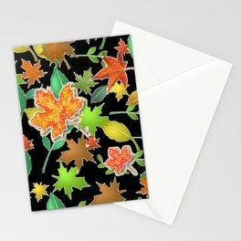 Herbstlaub colorful Stationery Cards