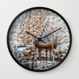 Chinese Garden Infrared Wall Clock