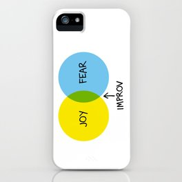 The Venn of Improv (Yellow/Blue) iPhone Case