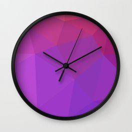 Polygon art 09 Wall Clock