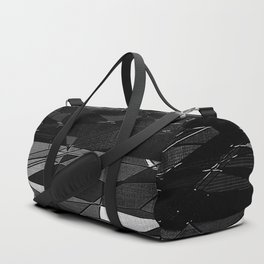 Etching in Black and White Duffle Bag