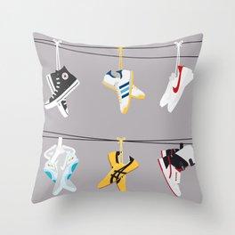 Flick Kicks Throw Pillow