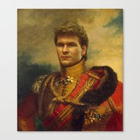 patrick Canvas Prints featuring Patrick Swayze - replaceface by replaceface