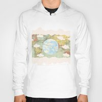 world maps Hoodies featuring Off The Maps by Grace M