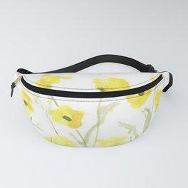 Pretty, Delicate, Happy, Yellow Buttercups Fanny Pack