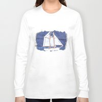 sailboat Long Sleeve T-shirts featuring Sailboat by Michael P. Moriarty