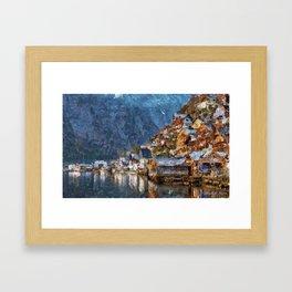 A lakeside Framed Art Print
