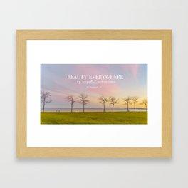 Pink Milwaukee Sky  Framed Art Print