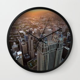 Chicago City Sunset Wall Clock