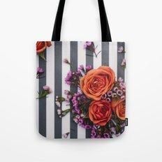 Botanical Stripes  Tote Bag