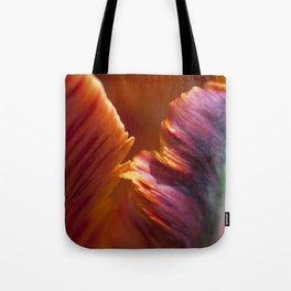Parrot Tulip Petal Tote Bag