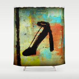 Color At The Heel Shower Curtain