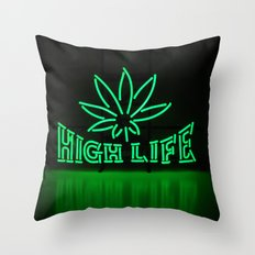 High Life Throw Pillow
