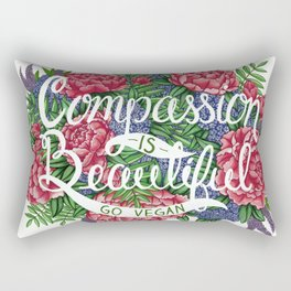 Compassion is Beautiful Rectangular Pillow