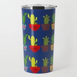 Cactus in blue Travel Mug
