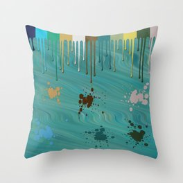 Messy Painter Throw Pillow