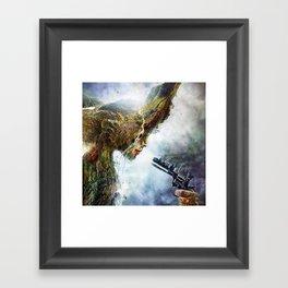 Mother nature is in War Framed Art Print