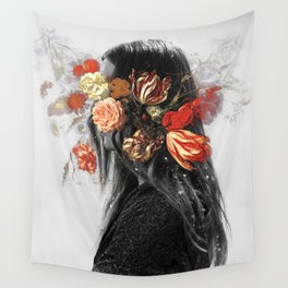 Flower face Wall Tapestry