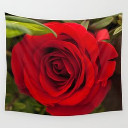 Red red rose Wall Tapestry
