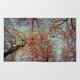 Trees In Fall Rug