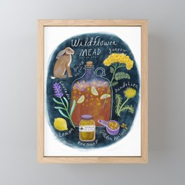 Wildflower Mead Framed Mini Art Print
