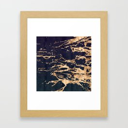 Double Marble Lichenradient Suede Framed Art Print