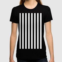Black and white vertical stripes T-shirt
