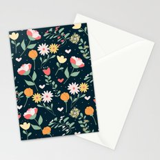 floral 4 Stationery Cards
