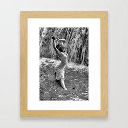 Waterfall Dancing Framed Art Print