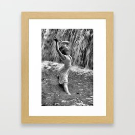 Waterfall Dancing Framed Art Print