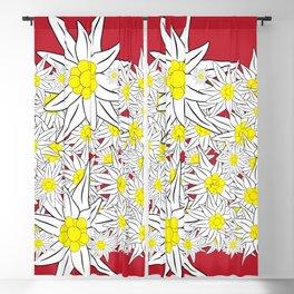 Bold Edelweiss Pattern Blackout Curtain