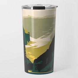 Lovely Lake Louise vintage travel ad Travel Mug