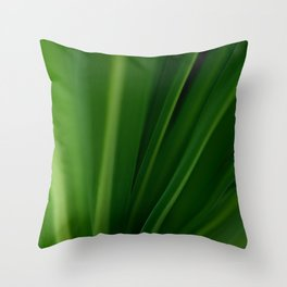 The Lushest Green of Life Throw Pillow
