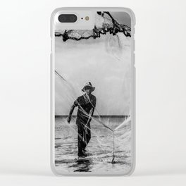 Casting the net Clear iPhone Case