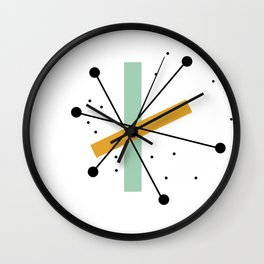 1950s Retro Atomic Pattern Wall Clock
