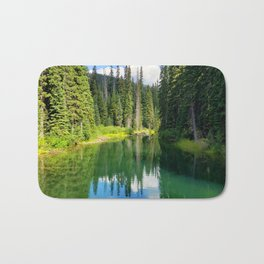 Pacific North West Alpine Lake Bath Mat