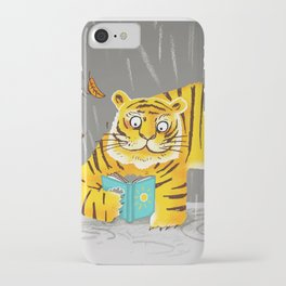 reading tiger iPhone Case