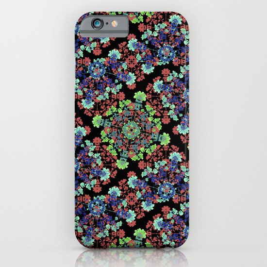 Colorful Stylized Floral Collage iPhone & iPod Case