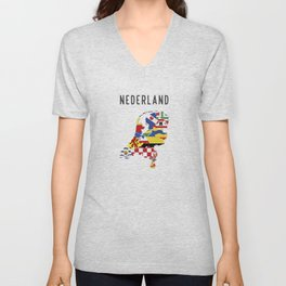 netherlands country symbol Unisex V-Neck