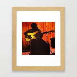 Girl with Guitar  Framed Art Print