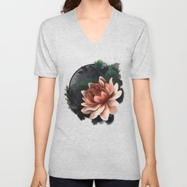 Ink and flowers Unisex V-Neck