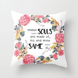 Romantic Emily Bronte Quote Throw Pillow