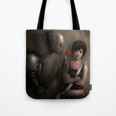 Robot In Love Tote Bag