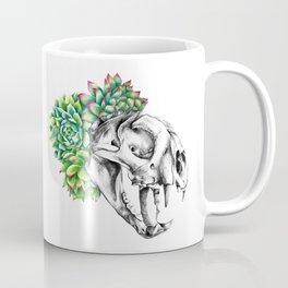 Rock Rose Cat Skull Coffee Mug