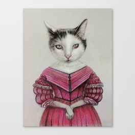 miss cat Canvas Print
