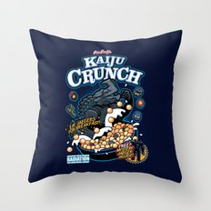 Kaiju Crunch Throw Pillow