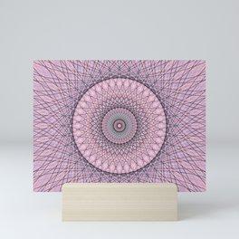Modern Abstract Geometric Mandala c14206 Mini Art Print