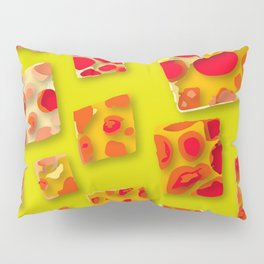 red spotted rectangles Pillow Sham